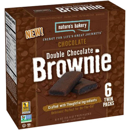 Nature's Bakery Chocolate Double Chocolate Brownie, 12 oz, (Pack of 12)