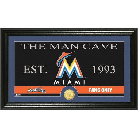 The Highland Mint MLB Man Cave Bronze Coin Panoramic Photo Mint, Miami Marlins by