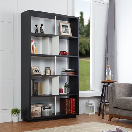 Furniture Of America Daki Modern Black Open Back Bookshelf
