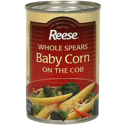 Reese Whole Baby Corn Spears On The Cob, 15 oz (Pack of 12)