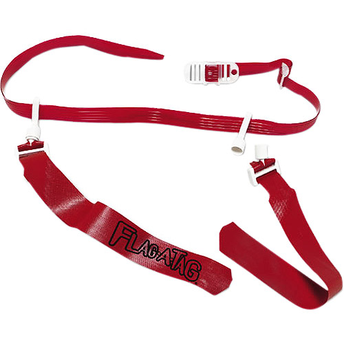 """Flag A Tag 42"""" Belt with 12 Flags, Scarlet"""
