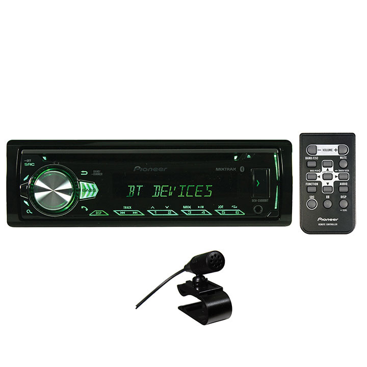 Pioneer Deh-S5000Bt Single-Din In-Dash CD Receiver with Bluetooth & Illuminated Rotary Knob by Pioneer