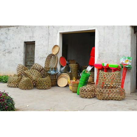 Canvas Print China Baskets Building Haikou Structure Handmade Stretched Canvas 10 x 14](Chinese Basket Trick)