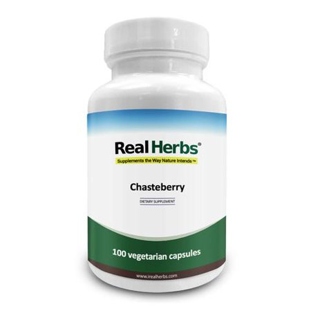 Real Herbs Vitex Chasteberry 500mg - Natural Remedy for relieving Premenstrual Syndrome (PMS) and Menopause - Also known as Agnus Castus - Regulates Mood - 100 Vegetarian - Pms 348