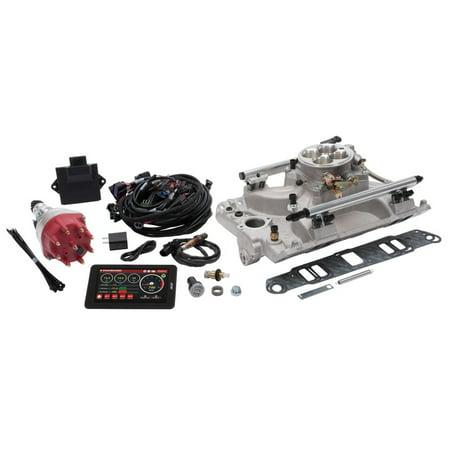 Edelbrock Pro Flo 4 Fuel Injection Kit Seq Port Pontiac 326-455 ci 550 Max HP 2 LbHr Injectors Satin Edelbrock Fuel Injection Kit