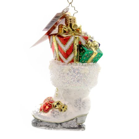 Christopher Radko SKATE-FULL DELIVERY Glass Ornament Figure Skating 1018402 - Retired Radko Halloween Ornaments
