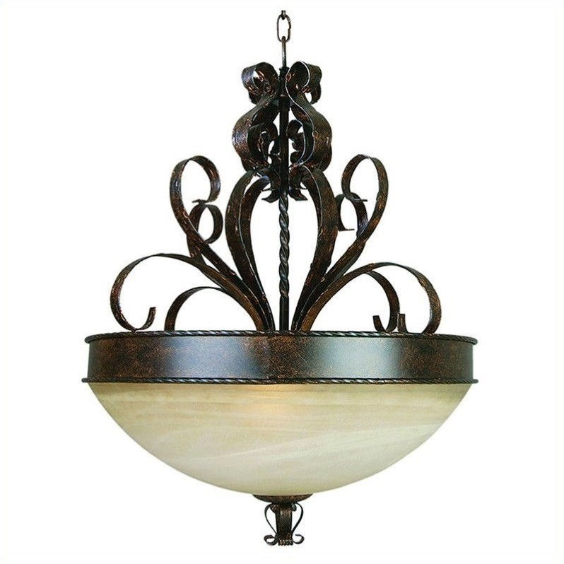 Yosemite Home Decor Mckensi 3 Lights Pendant Lighting in Bronze