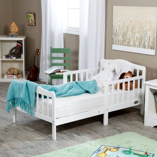 The Orbelle Contemporary Solid Wood Toddler Bed - White