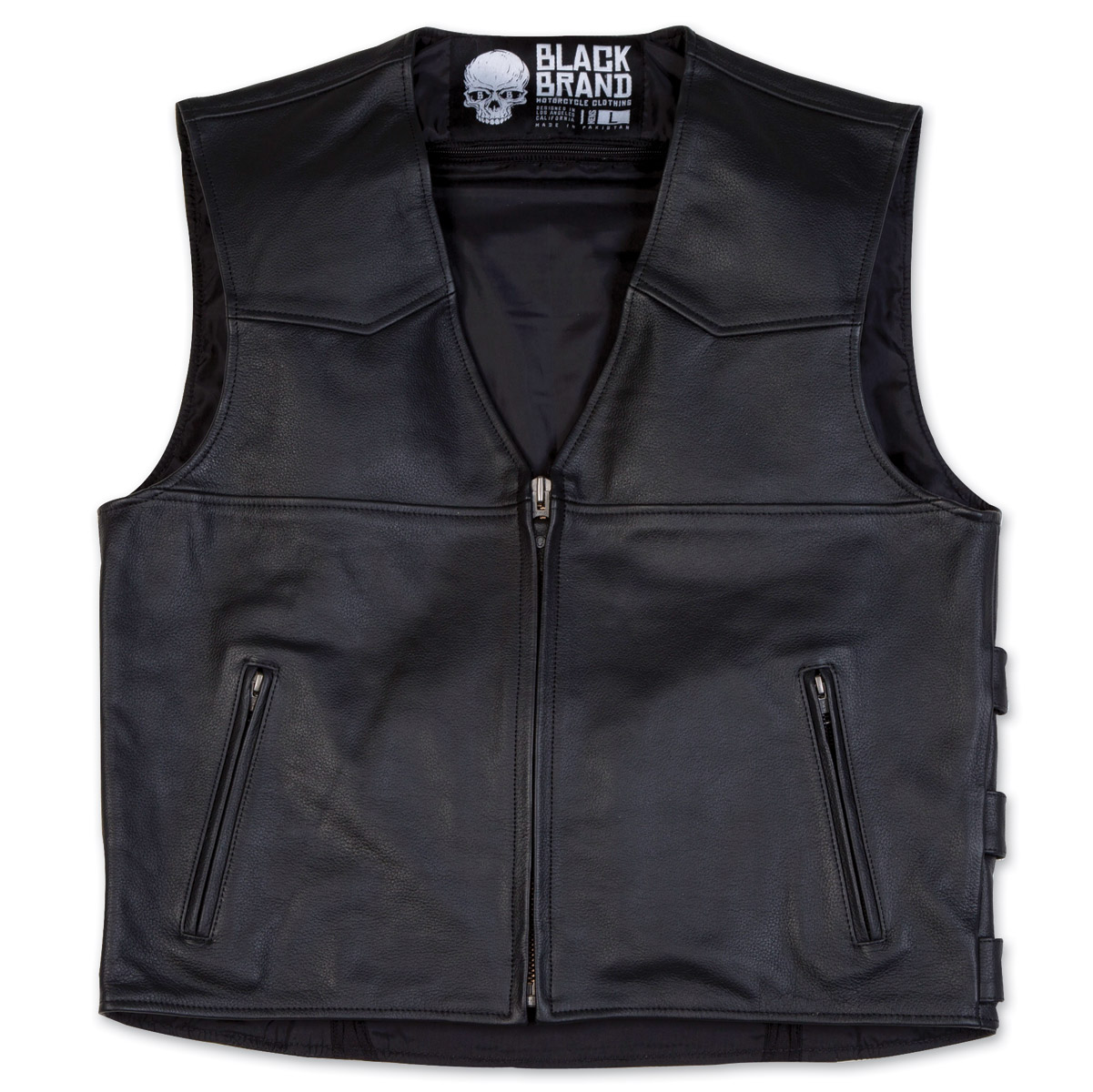Black Brand Men's  Men's Guardian Leather Vest