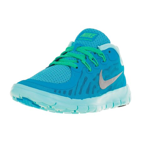 size 40 4543f 398d7 low-cost Nike Kids Free 5.0 (GS) Running Shoe-BlueLagoonMetallicSilver. Nike  Air Max Excellerate ...