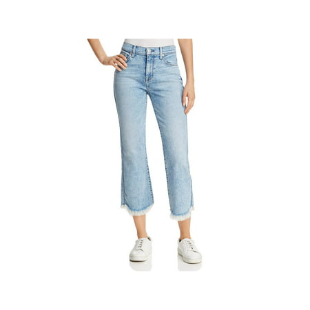 7 For All Mankind Womens Ali Classic Flare Frayed Hem Cropped (7 Cropped)