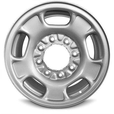 New 17x7.5 Chevrolet Sierra 2500 (11-14) Sierra 3500 (11-14) Silverado 2500 (11-18) Silverado 3500 (11-14) 8 Lug Steel Chrome Full Size Replacement Wheel Black Chrome Mustang Wheels