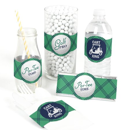 Par-Tee Time - Golf - DIY Birthday or Retirement Party Wrapper Favors - Set of - Par Golf Supply