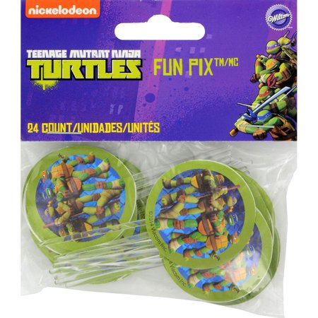 Teenage Mutant Ninja Turtles Cupcakes (2113-7744 24 Count Teenage Mutant Ninja Turtles Fun Pix Cupcake)