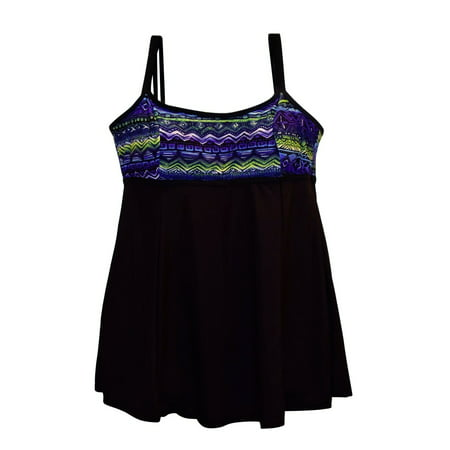 05ae62f7848 NWSC-NW Swim Connection - NWSC Women s Plus Size Scoop Neck Swimdress  Swimsuit 18-24W - Walmart.com