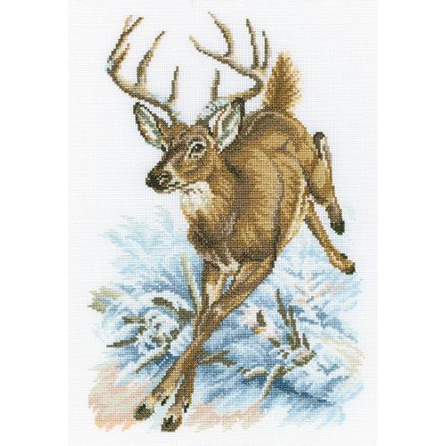"""Forest Deer Counted Cross Stitch Kit, 8.75"""" x 13"""", 14-Count"""