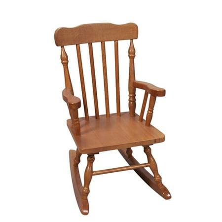 ... Finish Wooden Designer Spindle Childrens Rocking Chair - Walmart.com