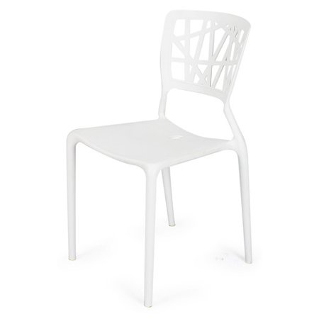Adeco Trading Stacking Dining Side Chair Set Of 2