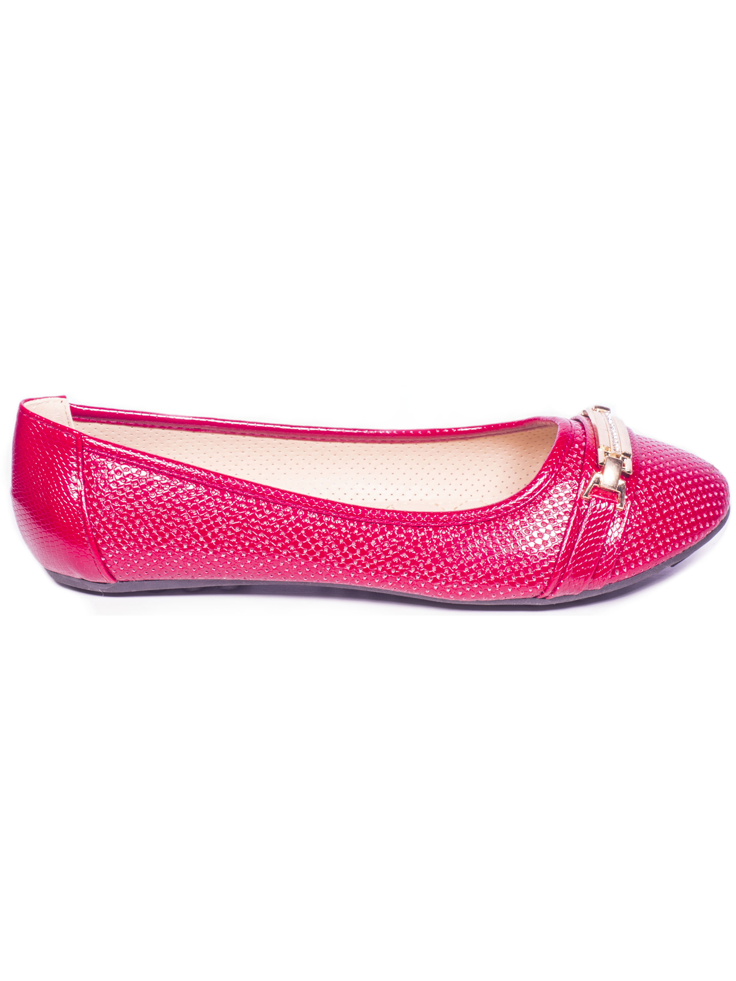 Women Ballerina Flats Shoes, Buckle Casual Slip-Ons with Bracelet Buckle Shoes, b82939
