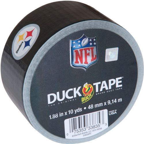 "Duck Brand Duct Tape, NFL Duck Tape, 1.88"" x 10 yard, Pittsburg Steelers"