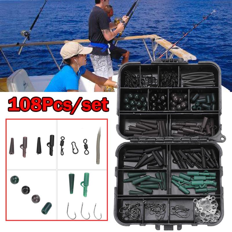 rigs swivels beads bait clips LINKS SEA FISHING TACKLE SET BOXED make up to 30