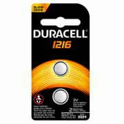 Duracell Coin Button 1216 Battery, 2 count