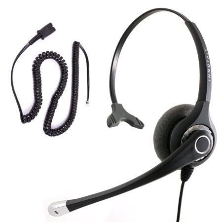 Cisco 6921, 6941, 6945, 6961, 7821, 7841 Phone Headset - Great Sound Professional Monaural Headset + Cisco Phone headset Adapter