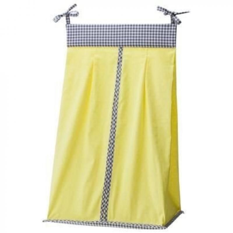 Mini Dot & Gingham Diaper Stacker Yellow by Trend Labs by Trend Labs