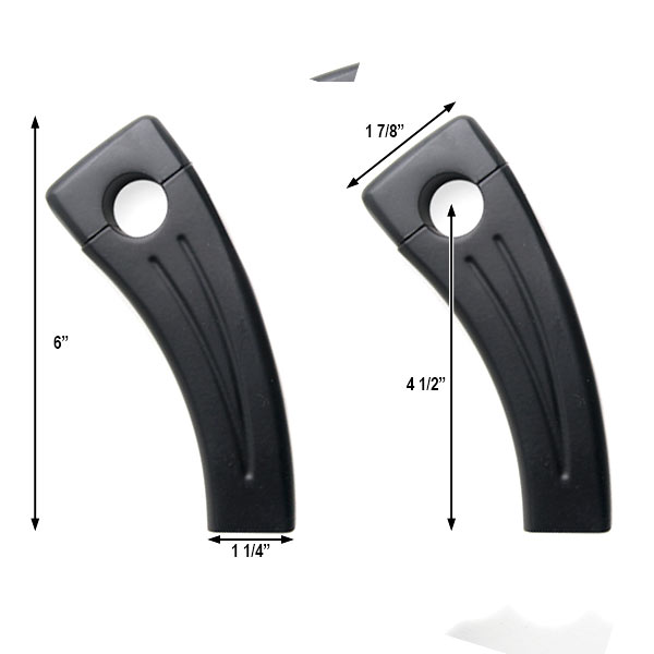 "4.5"" Black Bike Handlebar Pullback Risers 7/8"" For Honda CM 250 400 450 Custom - image 1 of 4"