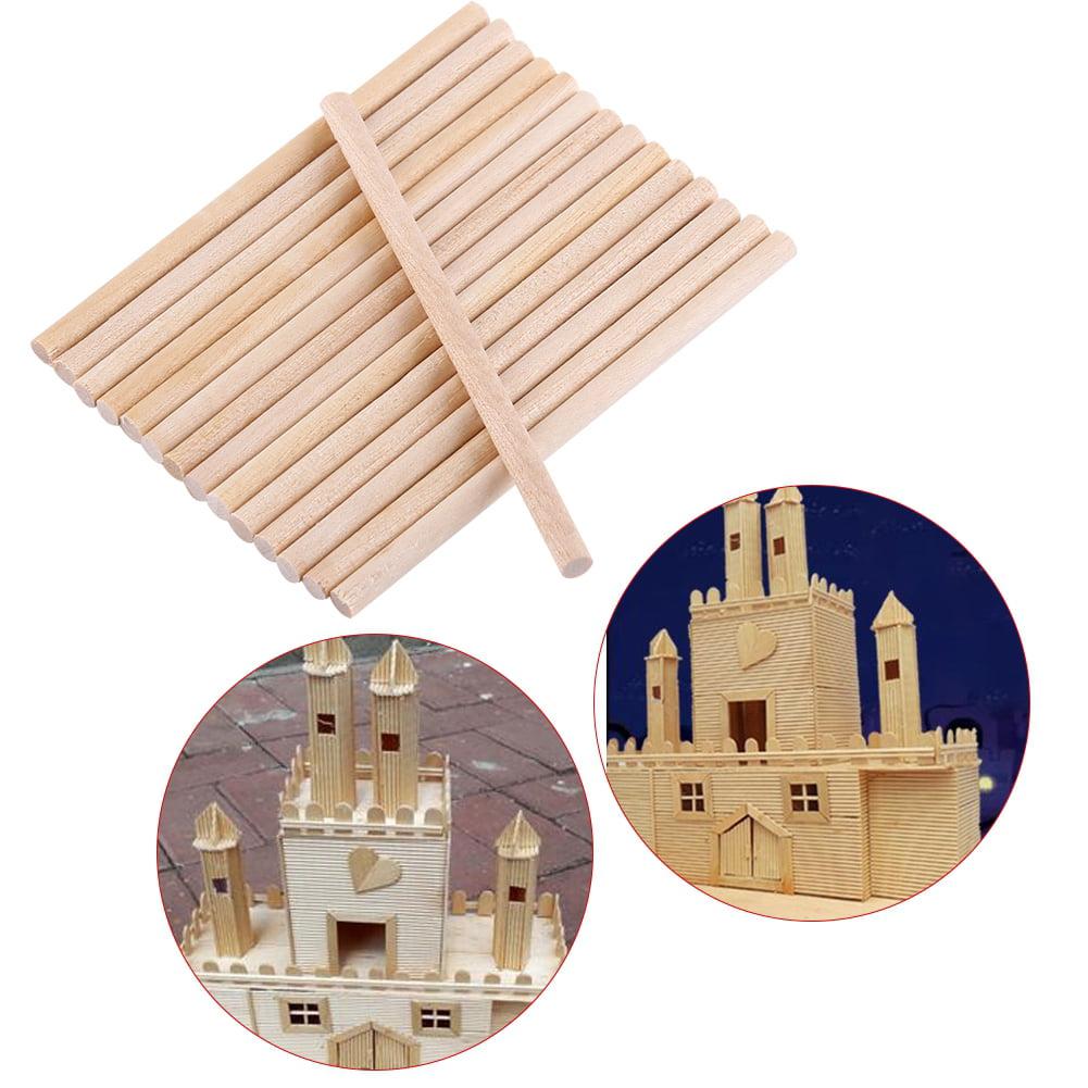 Ccdes Craft Tool 100pcs 80mm Round Wooden Sticks For Diy Wood Crafts Home Garden Decoration Round Sticks Walmart Com Walmart Com