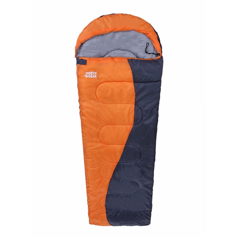 North Gear Camping Envelope Sleeping Bag With Hood by North Gear