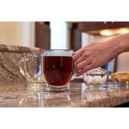 Anchor Hocking Caf? Glass Coffee Mugs, 16 oz pack of 2 ...