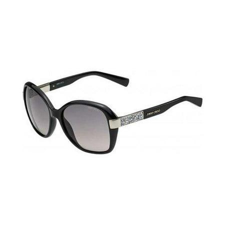 Jimmy Choo Sunglasses Female ALANA - Shiny Black - (Jimmy Choo Black Sunglasses)