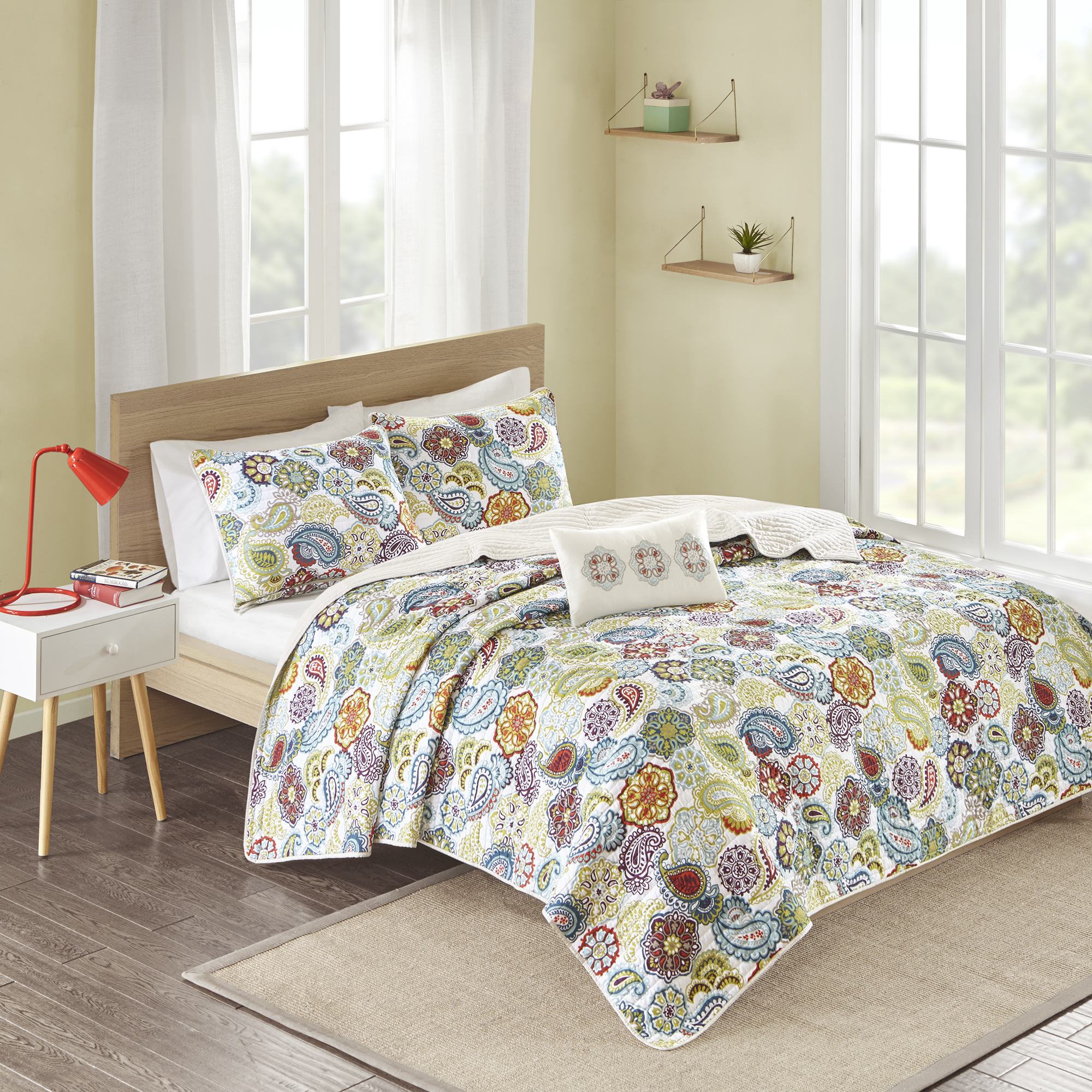 Home Essence Teen Tula Ultra Soft Quilted Coverlet Bedding Set