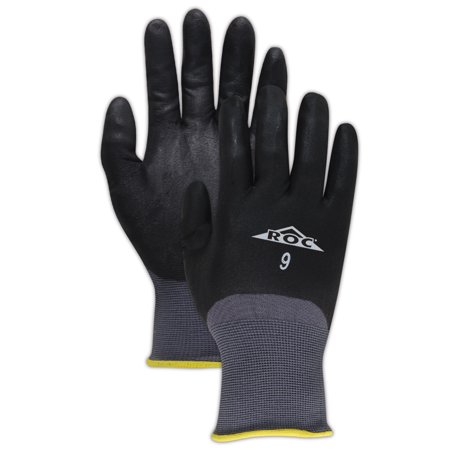 Fully Coated Glove (Magid ROC Micro-Foam Nitrile Fully Coated Gloves Size 9, 12 Pairs)