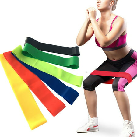 Resistance Loops Exercise Latex Rubber Bands Fitness Yoga Training Gym-Random
