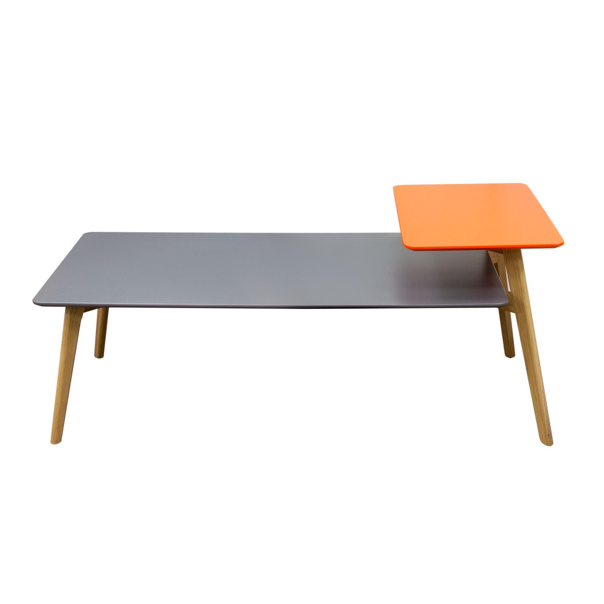 Diamond Sofa Tangent Rectangular Cocktail Table Grey Orange