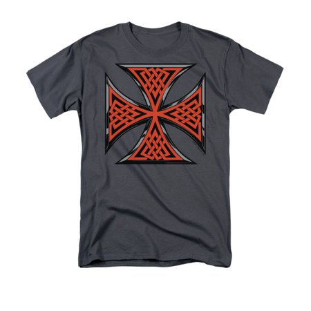 Celtic Cross Adult T-shirt - Celtic Iron Cross Irish Scottish Natives Religious Symbol Adult T-Shirt
