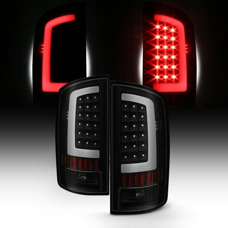 Fit 2002-2006 Dodge Ram 1500 2003-2006 2500/3500 LED Bar Tail Lights Black Smoke