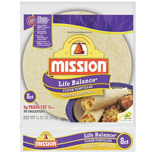 Mission Life Balance Medium Flour Tortillas, 8ct