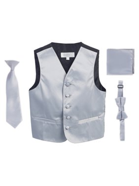 Gioberti Boys 4pc Satin Formal Vest Set