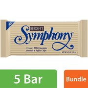 Hershey's Extra Large Symphony Milk Chocolate with Almonds and Toffee Candy Bar, 4.25 Oz.