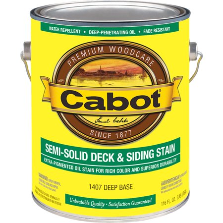 Cabot 11407 1 Gallon, Deep Base Deck & Siding Semi Solid Stain Deep Base Stain