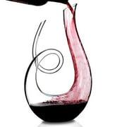 Wine Enthusiast Lead-Free Crystal Art Series Treble Wine Decanter