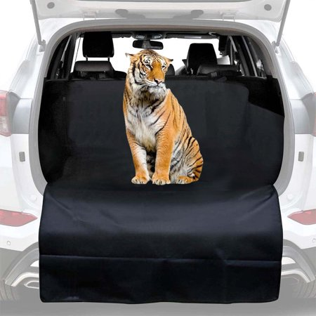 Reactionnx SUV Cargo Liner for Dogs - Dog Car Seat Covers Pet Seat Cover for Vans, Suvs - Black, Waterproof Nonslip Backing and (Hagen Pet Cargo)