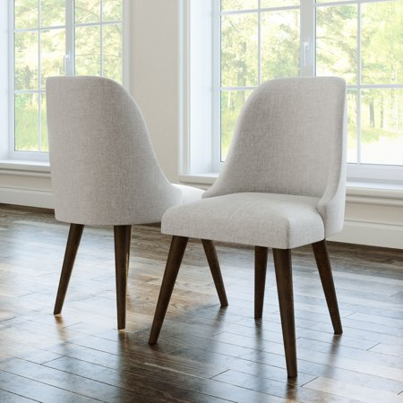 Devon & Claire Talia Upholstered Mid Century Dining Chair, Set of 2