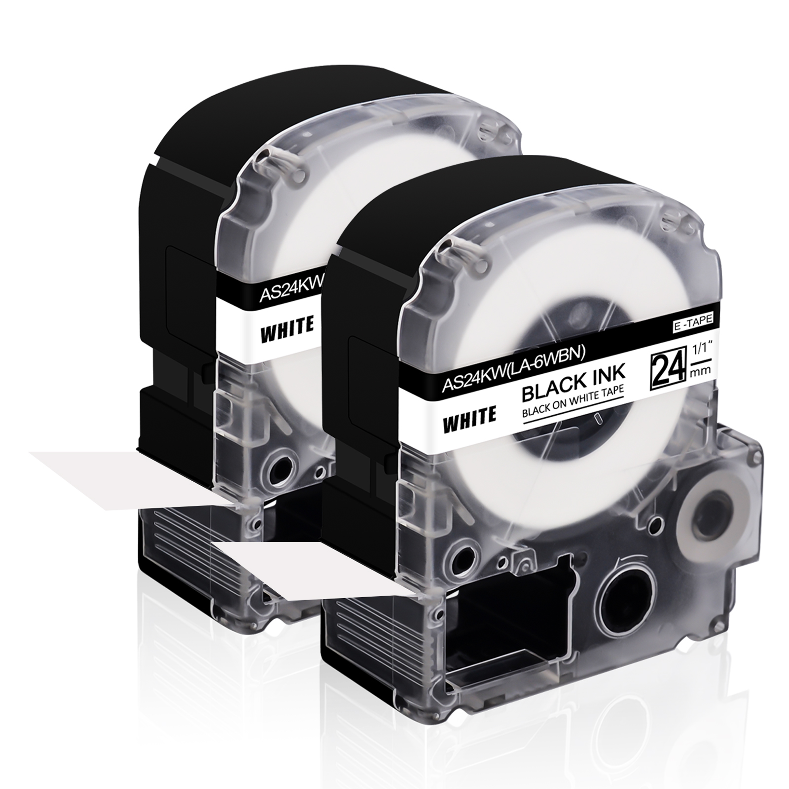 2 Pack BMP21-LAB -0.75 Width ID PAL Samshion M21-750-499 Cloth Label Tape 21 Length Compatible Brady High Adhesion Nylon Label Tape Black on White Work with BMP21-PLUS