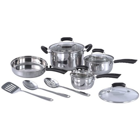 Sunpentown 11 Piece Stainless Steel Cookware Set