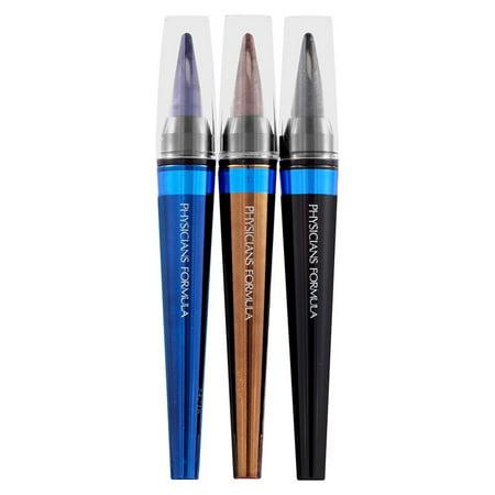 Physicians Formula Shimmer Strips Custom Eye Enhancing Intense Kohl Kajal Eyeliner Trio, Blue