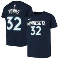Karl-Anthony Towns Minnesota Timberwolves Nike Youth Icon Name & Number T-Shirt - Navy